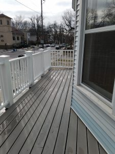 2nd floor deck with white rail